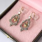Juicy Couture Bell-Shaped Rhinestone Encrusted Earrings