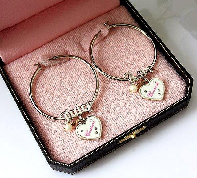Juicy Couture Love Juicy Boxed Hoop Earrings