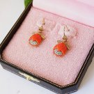 Juicy Couture Red Tulip Drop Earrings