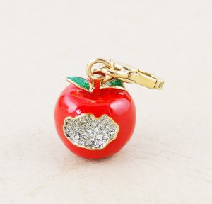 Juicy Couture 2012 Limited Edition Bitten Apple Pave Crystal Charm