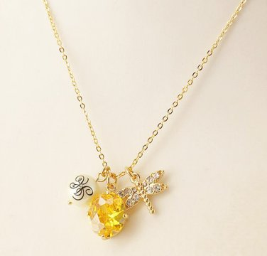 Juicy Couture Dragonfly Cluster Necklace