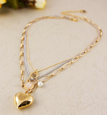 Juicy Couture Layered Heart Necklace