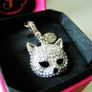 Juicy Couture Limited Edition Pave Cat Mask Charm