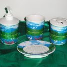 4 piece Bathroom Accessories Set *SWANS*