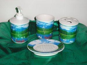 4 piece Bathroom Accessories Set *SWANS*