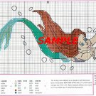 ARIEL Full Body Cross Stitch Pattern