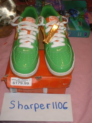 Nike Air Force 1 Citrus Size 8 with matching Shirt