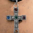 Rawcliffe jeweled cross pendant