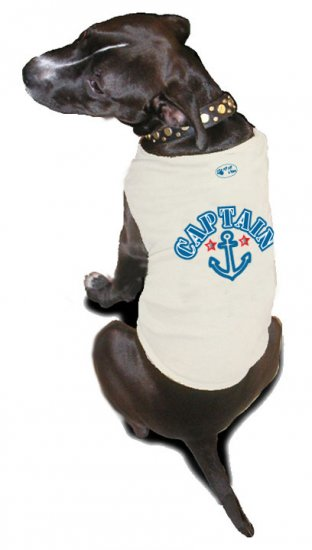 Ruff Ruff and Meow doggie tee-Captain