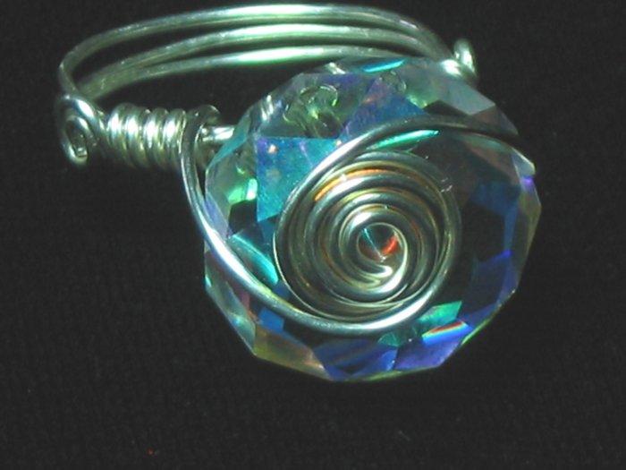 Swarovski & Sterling Silver Ring