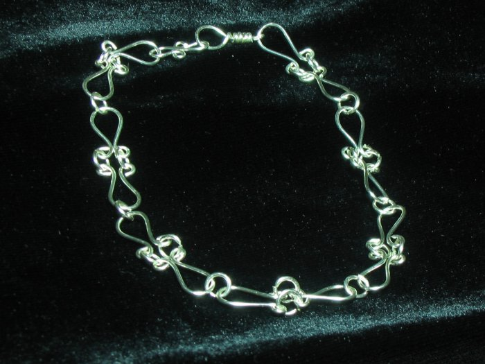 Artist Wire Wrapped Sterling Silver Bracelet