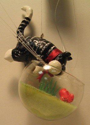 Cat Ornament-Kitty in the Aquarium
