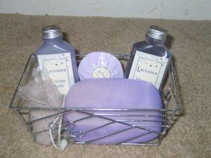 Lavender Bath Set