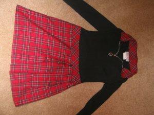 Black/red plaid dress