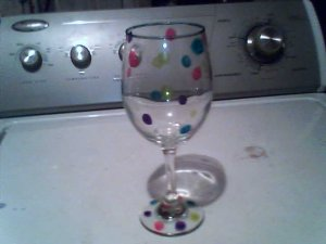 wine glass with a long stem