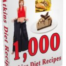 1000 Atkins Diet Recipes Ebook/Audio book +Extras!!!!!!