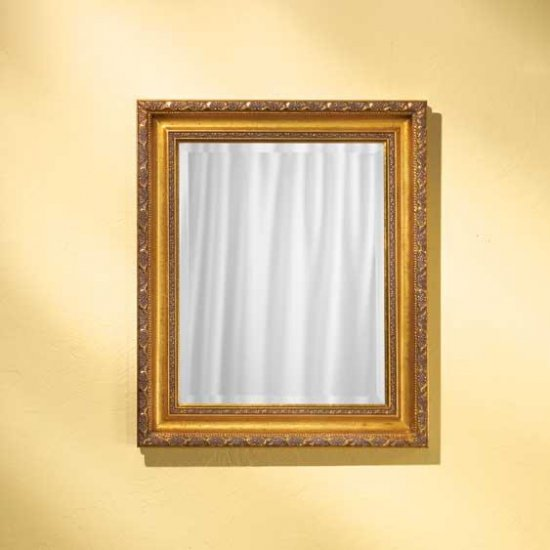 golden framed wall mirror