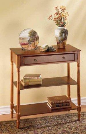 Double-shelf console table