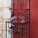 Baker's style wine and glasses rack
