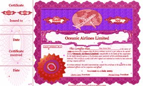 Rare original RED certificate