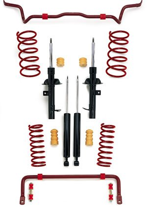 96-01 Audi A4 Quattro V6 eibach Pro System plus Performance Lowering Kit 1532.680