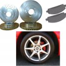 Audi A6 Quattro 95-97 Performance Cross Drilled/Slotted Rotors & Pads Kit