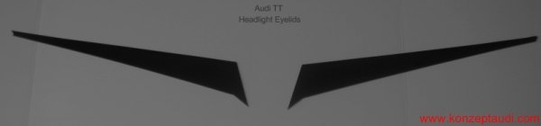 Audi TT 02-05 Headlight Eyelids Paintable Polyurathane eyebrows Also available Carbon Fiber