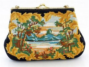 Vintage Petit Point Evening Bag