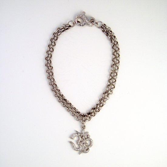White Gold Diamond OM Bracelet