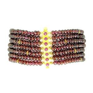Seven Strand Garnet Bracelet