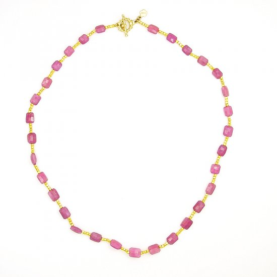 Pink Sapphire Necklace 1