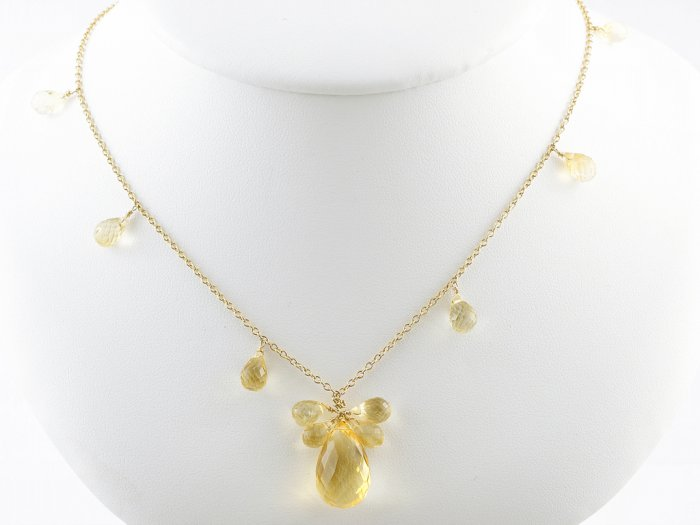 Citrine Droplet Necklace