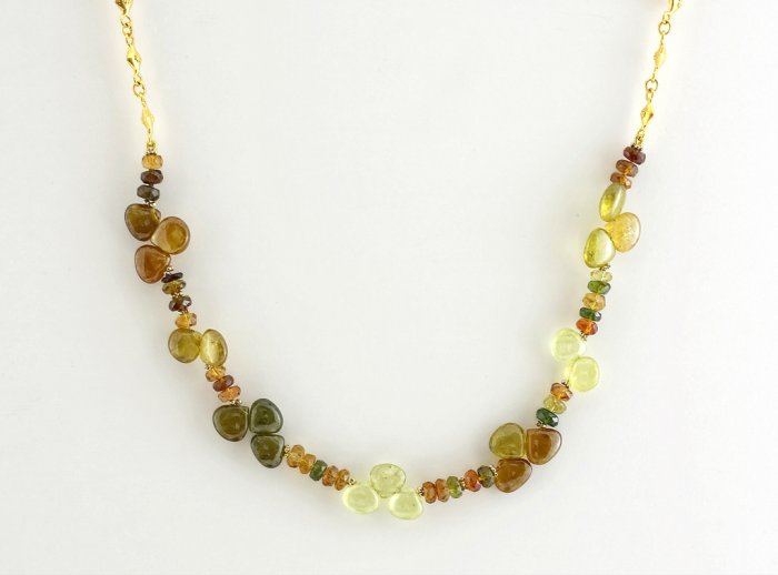 Green Tourmalines Necklace
