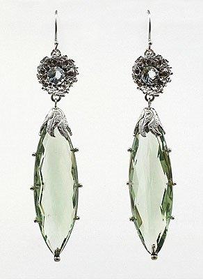 Green Amythest Earrings
