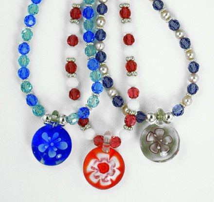 Swarovski Crystal & Murano Glass STAR Necklace