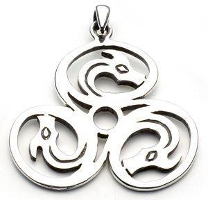 Cerrunos Celtic Sterling Silver Necklace