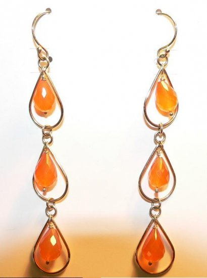 Mandarin Bead Earrings