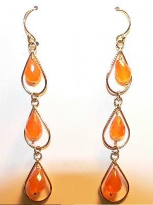 Mandarin Bead Earrings