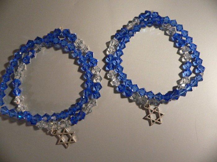 Swarovski Crystal Bracelet set of 2 Blue