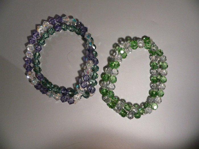 Bracelet Crystal and Green Swarovski