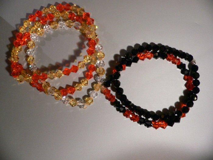 Bracelet ORANGE and BLACK Swarovski