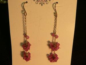 Sapphire Cluster Earrings