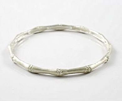 Sterling Silver Bamboo Bracelet Bangle