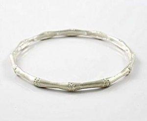 Sterling Silver Bamboo Bracelet Bangle