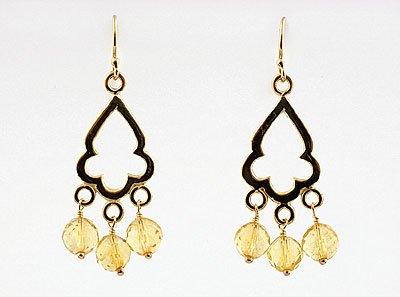 Citrine Moraccan Window Earrings