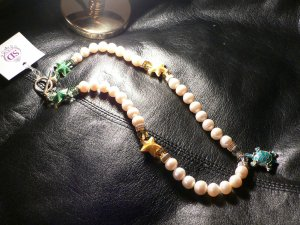 Pearls & Enamel Summer Necklace