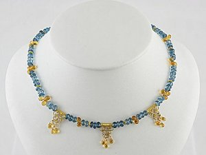 London Amythest & Blue Topaz Necklace