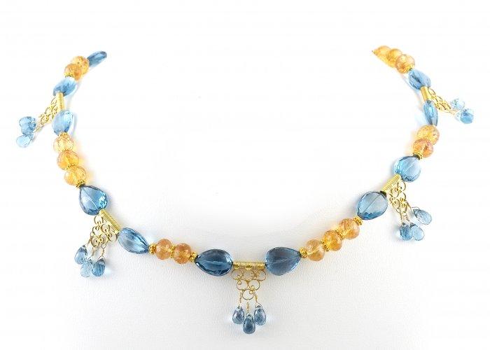 London Amythest & Blue Topaz Necklace 2