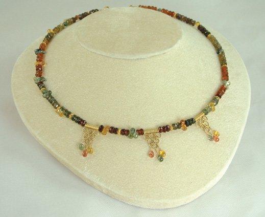 Tourmaline & Sapphire Briolette Necklace