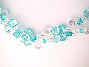 Blue Topaz & Crystal Brilolette Necklace